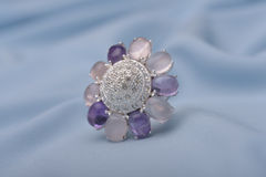 Exquisite silver ring Royalty Free Stock Image