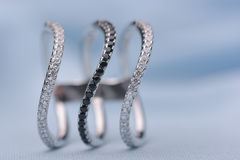 Exquisite silver ring Stock Photo
