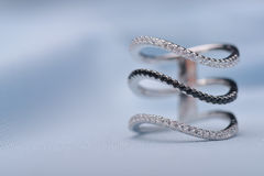 Exquisite silver ring Stock Images