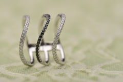 Exquisite silver ring Royalty Free Stock Photography