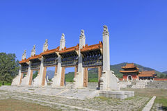 Exquisite stone archway in the Eastern Royal Tombs of the Qing D Stock Image