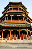 The exquisite Summer Palace built in Beijing. The Summer Palace, a reminder of China and its past dynasties Royalty Free Stock Images