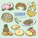Exquisite Taiwan specialties collection Royalty Free Stock Photos