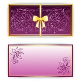 Exquisite template for greeting card, invitation Royalty Free Stock Images