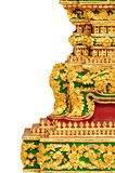 Exquisite Thai traditional architecture - isolate Royalty Free Stock Photo
