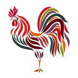 Exquisite weathervane, colorful cock, flowing lines.  Royalty Free Stock Photography