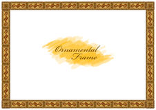 Exquisite wooden frame with carved ornaments Royalty Free Stock Photography