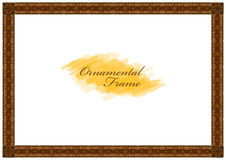 Exquisite wooden frame with carved ornaments Stock Image