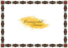 Exquisite wooden frame with carved ornaments Royalty Free Stock Photo