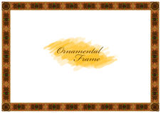 Exquisite wooden frame with carved ornaments Royalty Free Stock Image