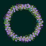 Exquisite wreath with detailed flowers,leaves, petals. Royalty Free Stock Photos