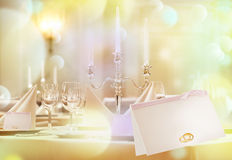 Exquisitely decorated wedding table Royalty Free Stock Photography