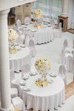 Exquisitely decorated wedding table setting Stock Photos