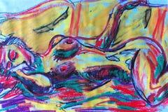 exstasy naken kvinna Fotografering för Bildbyråer