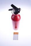 Exstinguisher en los cigarrillos Foto de archivo libre de regalías