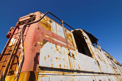 Extérieur abandonné de train Photographie stock libre de droits