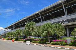 Extérieur avant de façade de Kota Kinabalu International Airport Photos stock