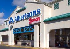 Extérieur d'épicerie d'Albertsons Photographie stock libre de droits