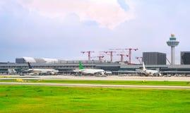 Extérieur d'aéroport international de Changi, Singapour Image stock