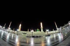 Extérieur d'Al Nabawi de Masjid (mosquée) dans Medina Photographie stock
