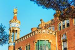 Extérieur d'ancien Hospital de Sant Pau à Barcelone Images stock