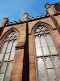 Extérieur d'une façade d'église photographie stock