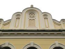Extérieur d'une synagogue avec David Star Photos libres de droits