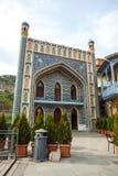 Extérieur de bain public dans le secteur d'Abanotubani à Tbilisi, un fi Images stock