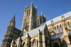 Extérieur de cathédrale de Lincoln Image stock