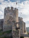 Extérieur de château de Conwy, Pays de Galles image libre de droits