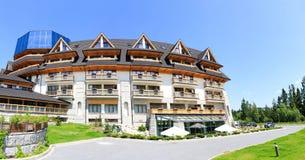 Extérieur de construction d'hôtel de luxe Image stock