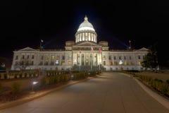 Extérieur de construction de capitol d'état de l'Arkansas photo stock