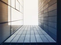 Extérieur de construction de façade en verre moderne de détail d'architecture images stock