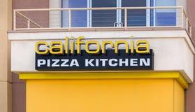 Extérieur de cuisine de pizza de la Californie Images libres de droits