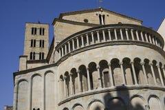 Extérieur de Duomo (cathédrale) à Arezzo Photos libres de droits