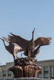 Extérieur de fontaine sur la place de l'indépendance, Minsk Images stock