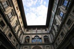 Extérieur de galerie d'Uffizi Photographie stock