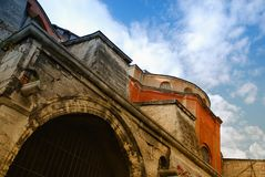 Extérieur de Hagia Sophia Image libre de droits