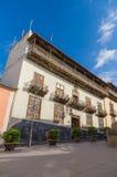 Extérieur de La Casa de los Balcones, Ténérife Images libres de droits