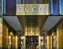 Extérieur de magasin de détail de Gucci Photographie stock libre de droits