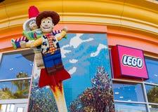 Extérieur de magasin de détail de Legoland Photo libre de droits