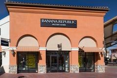Extérieur de magasin de Repulic de banane Photo libre de droits