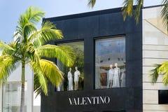 Extérieur de magasin de Valentio Images libres de droits