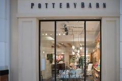 Extérieur de magasin de Pottery Barn Photographie stock