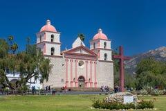 Extérieur de mission de Santa Barbara Photo libre de droits