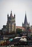 Extérieur de Notre Dame de cathédrale, Lausanne Photos stock