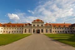 Extérieur de palais de belvédère à Vienne, Autriche Un du site de patrimoine mondial de l'UNESCO pour l'architecture et les intér images stock