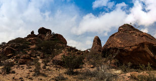 Extérieur de roche de Laas Geel de peintures de caverne, Hargeisa, Somalie Photographie stock