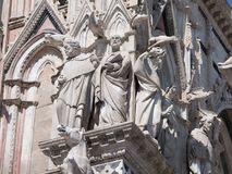 Extérieur de Siena Cathedral Photo libre de droits