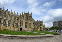 Extérieur de St Georges Chapel, Windsor Castle image stock